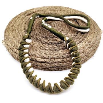 Colar de corda comprido macrame