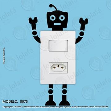 df86706d39 Kit C 2 Adesivo para Tomada Mod 75 Robô