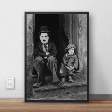 Quadro Charlie Chaplin ator poeta 29,7x42 cm P817
