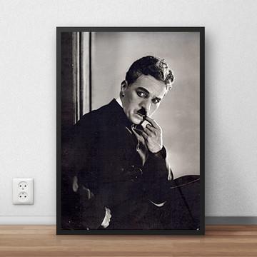 Quadro Charlie Chaplin ator poeta 29,7x42 cm P820