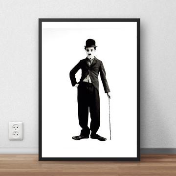 Quadro Charlie Chaplin ator poeta 29,7x42 cm P822