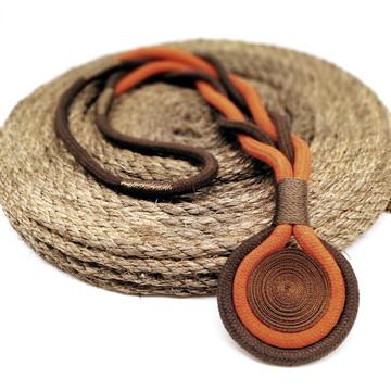 Colar de corda comprido pingente