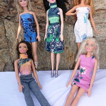 392c9ef2ce kit 5 roupas para boneca Barbie + 1 par sapato