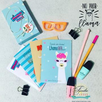 Kit Pocket notes - Cadernos de Anotações - Lhama