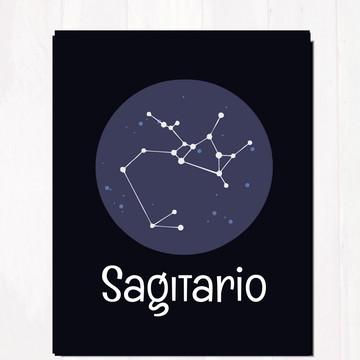 Quadro - Placa decorativa signo Sagitário - tam. 20x28