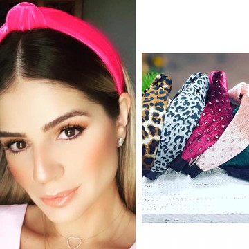 Lote 10 Tiara blogueira Thassia Naves Revenda Frete Grátis