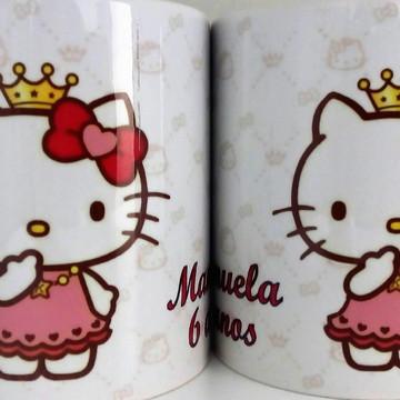Caneca Personalizada de Aniversario Hello Kitty