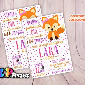 Convite Digital - Raposinha Rosa