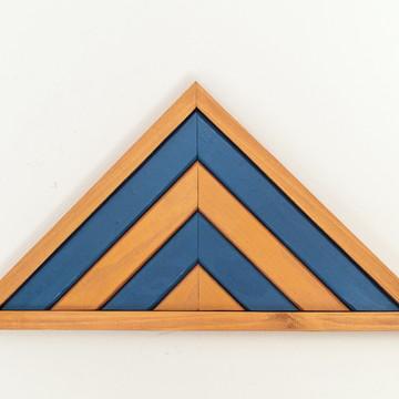 Quadro Decorativo Montanha - Azul e Dourado