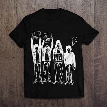 0fd3e2d4b Camiseta inspirada nos Ramones Hey Ho Lets Go