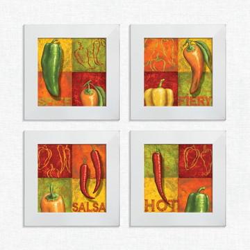Quadros Decorativos Cozinha Legumes Pimenta Pequeno Comp1221