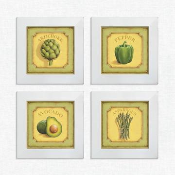 Quadros Decorativos Cozinha Verduras Pequeno Comp1223