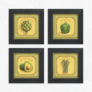 Quadros Decorativos Cozinha Verduras Sacolão Médio Comp1223