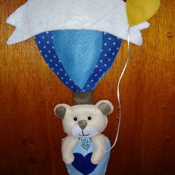 Guirlanda de porta ursinho balão