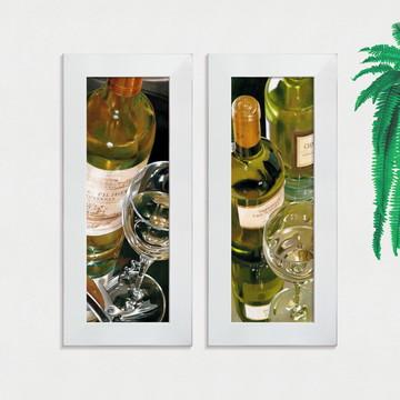 Quadros Decorativos Cozinha Vinho Adega Pequeno Comp1228
