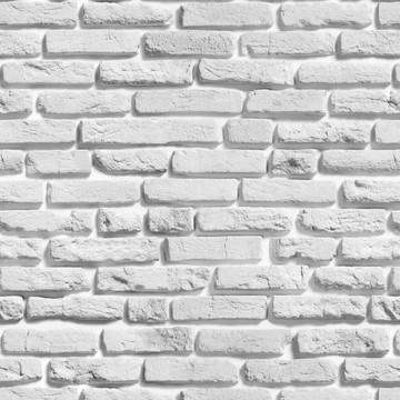 Papel de Parede de Tijolo Branco Acinzentado