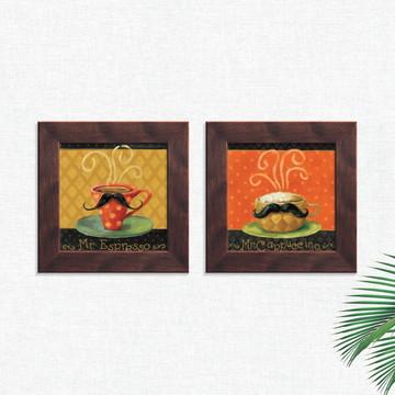Quadros Decorativos Cozinha Café Espresso Médio Comp1239
