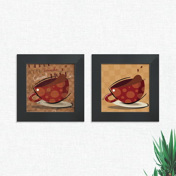 Quadros Decorativos Cozinha Cafeteria Café Médio Comp1240