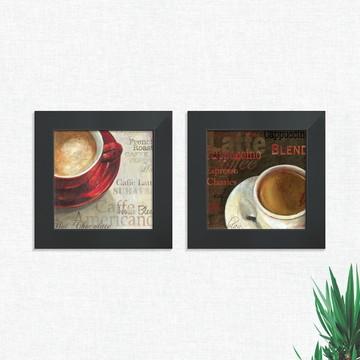 Quadros Decorativos Cozinha Café Cafeteria Pequeno Comp1241