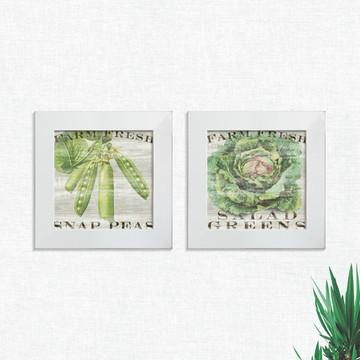Quadros Decorativos Cozinha Legumes Pequeno Comp1243