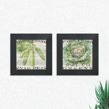 Quadros Decorativos Cozinha Legumes Verduras Médio Comp1243