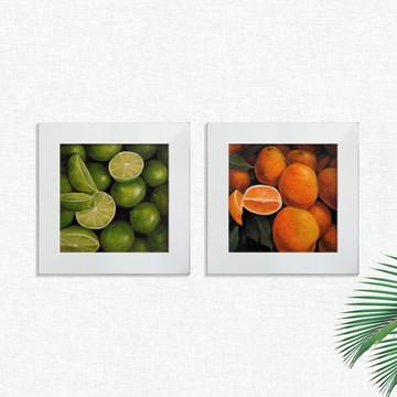 Quadros Decorativos Cozinha Laranja Limão Pequeno Comp1245