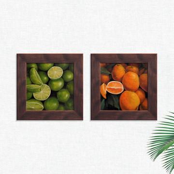 Quadros Decorativos Cozinha Laranja Limão Médio Comp1245