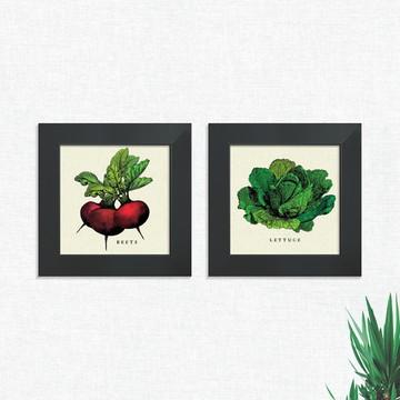 Quadros Decorativos Cozinha Alface Legumes Médio Comp1247