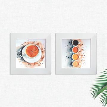 Quadros Decorativos Cozinha Café Cafeteria Pequeno Comp1248