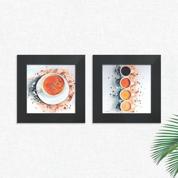 Quadros Decorativos Cozinha Café Cafeteria Médio Comp1248
