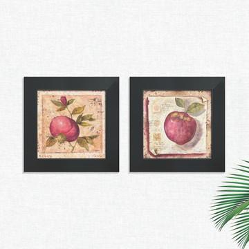 Quadros Decorativos Cozinha Frutas Vermelhas Médio Comp1249