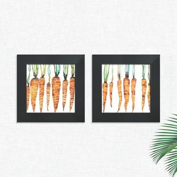 Quadros Decorativos Cozinha Cenouras Legumes Médio Comp1250