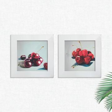 Quadros Decorativos Cozinha Cerejas Fruta Pequeno Comp1251