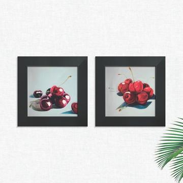 Quadros Decorativos Cozinha Cerejas Fruta Médio Comp1251