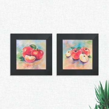 Quadros Decorativos Cozinha Fruta Maça Médio Comp1252