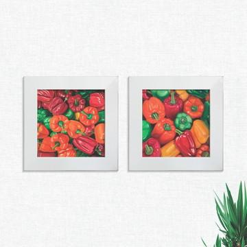 Quadros Decorativos Cozinha Pimentão Pequeno Comp1255