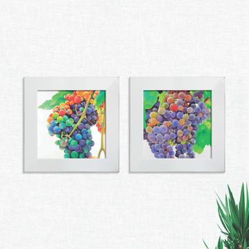 Quadros Decorativos Cozinha Cachos de Uva Pequeno Comp1256