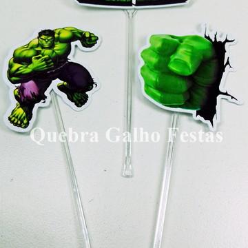 Topper doces Hulk - Pct com 10