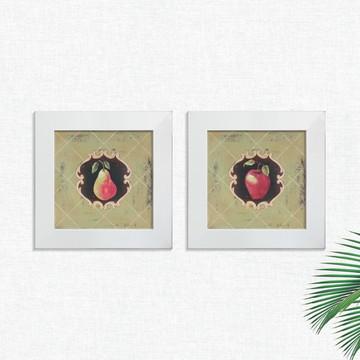 Quadros Decorativos Cozinha Vintage Fruta Pequeno Comp1265
