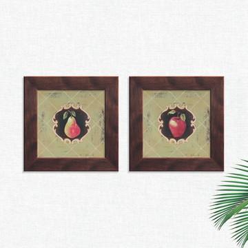 Quadros Decorativos Cozinha Vintage Fruta Médio Comp1265