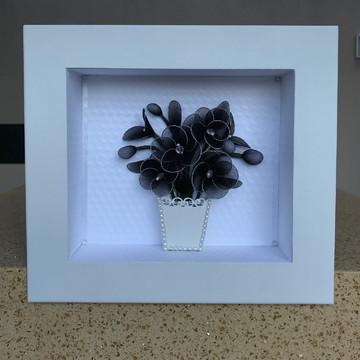 Quadro nicho vaso de flores