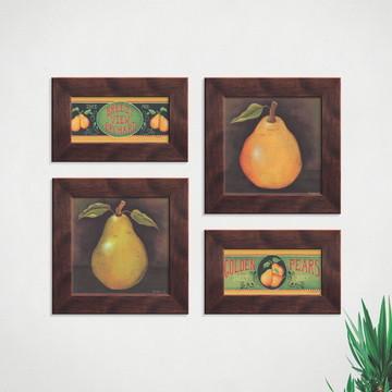 Quadros Decorativos Cozinha Fruta Pera Comp1289