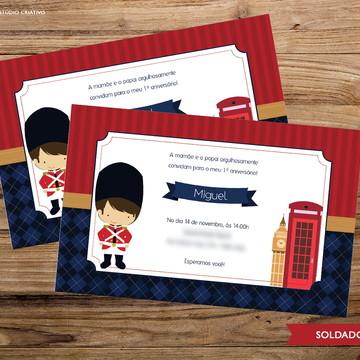 Convite Digital - Soldadinho