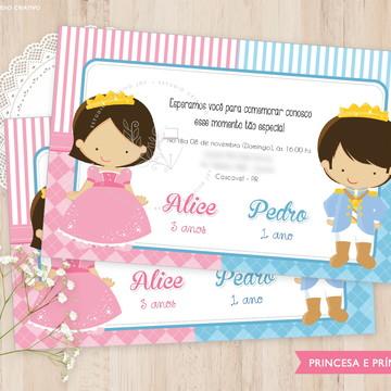 Convite Digital - Princesa e Príncipe