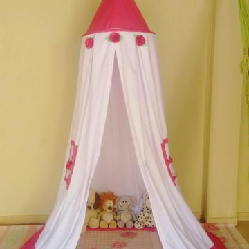 MINI Tenda cabana de teto, barraca de tecido flores de pano