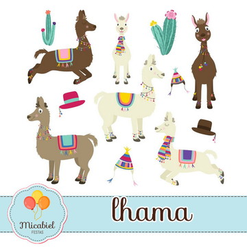 Clipart - Lhama