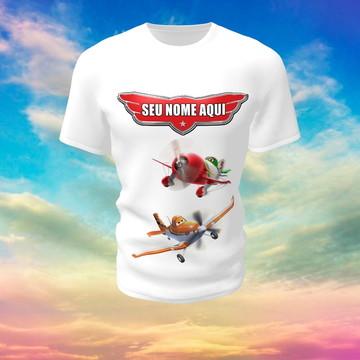 Camiseta Camisa Blusa Personalizada Disney Aviões