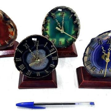 Relógio de Pedra Semi Preciosa Ágata 1 UNIDADE