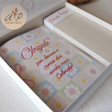 Caixa Cartonada com Kit Pintura - Meninas