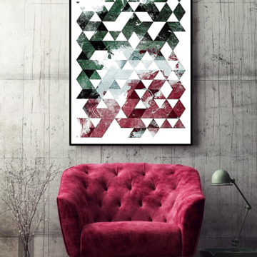 Poster Geométrico Marsala